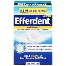 Efferdent PM Denture Cleanser, Anti-Bacterial, Overnight