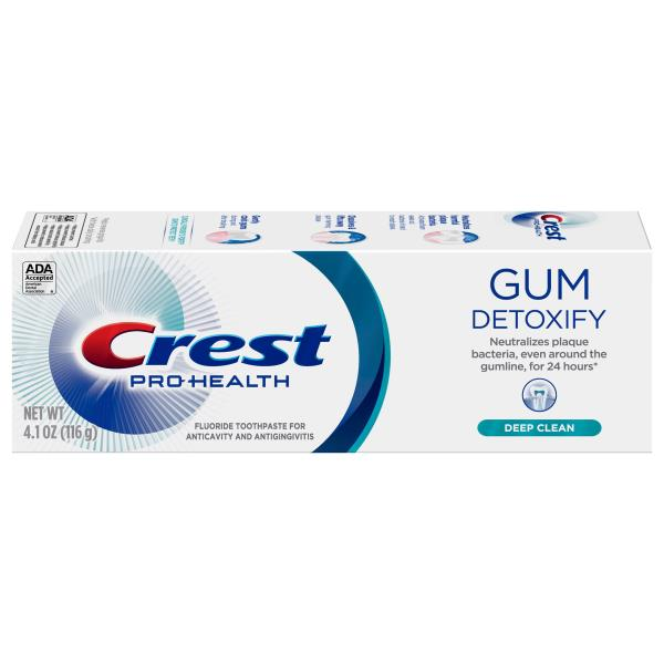 Crest Detoxify Toothpaste, Fluoride, Anticavity, Deep Clean