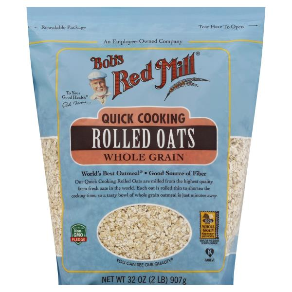 Bobs Red Mill Rolled Oats Quick Cooking Whole Grain