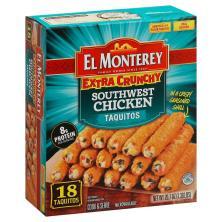 El Monterey Taquitos, Extra Crunchy, Southwest Chicken