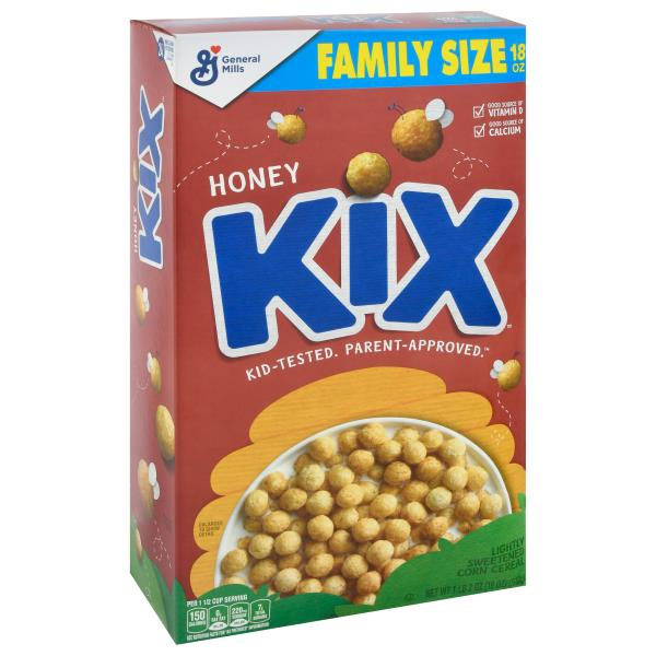 Kix Cereal, Lightly Sweetened Corn, Paw Patrol, Honey
