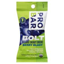 Probar Bolt Energy Chews, Organic, Berry Blast
