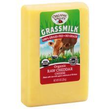 Organic Valley Cheese, Raw, Cheddar, Grassmilk, Organic