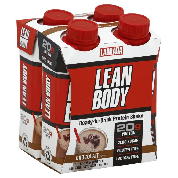 Protein Shaker Near Me: Labrada Protein Shake, Chocolate, Lean Body, Ready-to