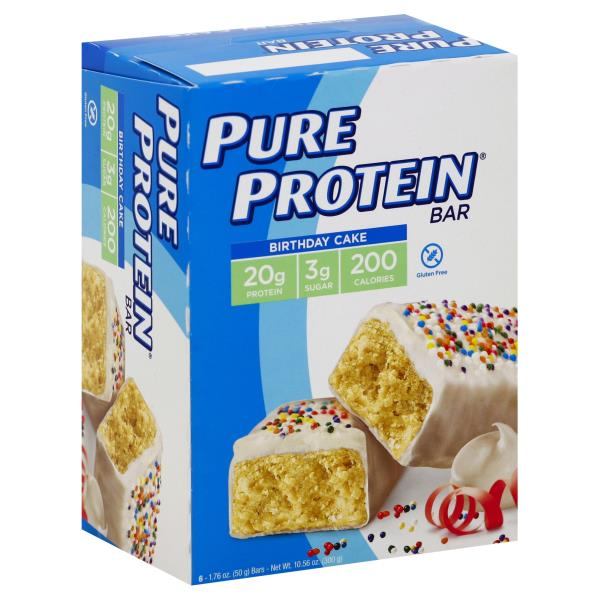 Pure Protein Protein Bar Birthday Cake