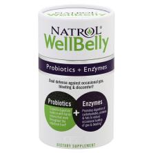 Natrol WellBelly Probiotics + Enzymes, Capsules