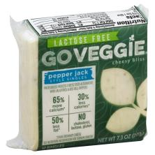 Go Veggie Cheese Food Alternative, Pasteurized Process, Pepper Jack Style Singles