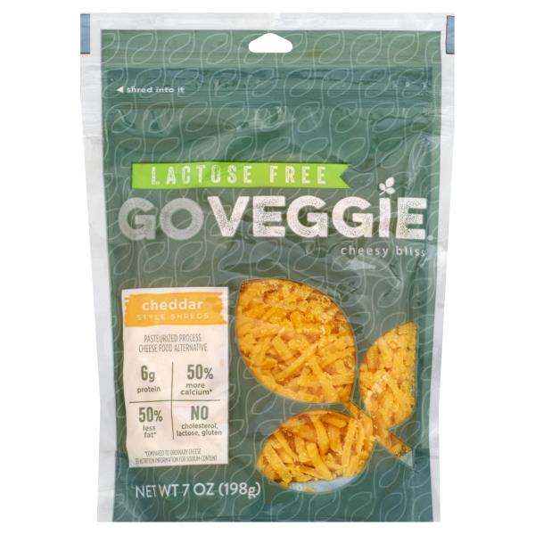Go Veggie Cheese Food Alternative, Pasteurized Process, Cheddar Style Shreds