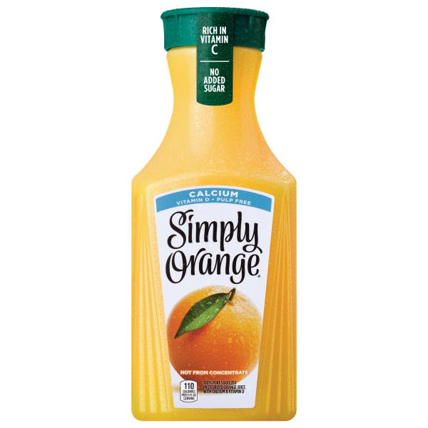 Simply Orange Orange Juice, Calcium, Pulp Free