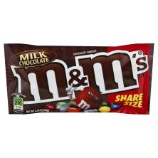 M & M Chocolate Candies, Milk Chocolate, Share Size