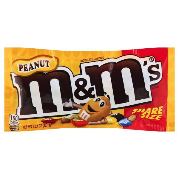 M & M Chocolate Candies, Peanut, Share Size