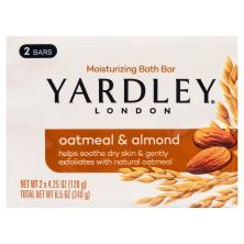 Yardley London Bath Bar, Naturally Moisturizing, Oatmeal & Almond