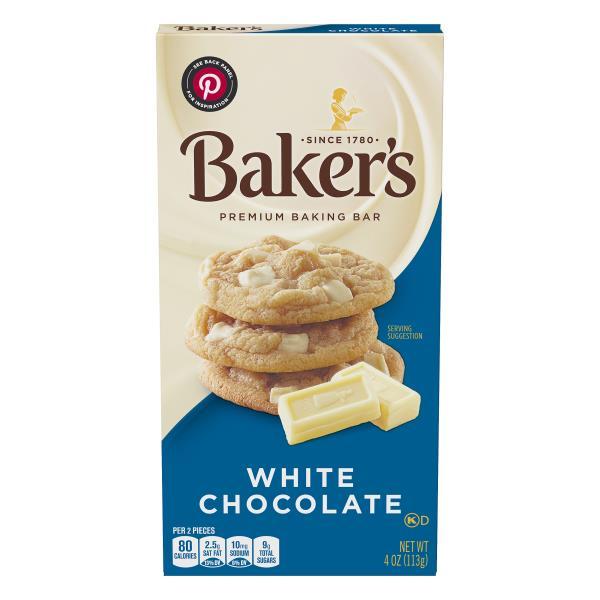 Bakers Baking Bar, Premium, White Chocolate