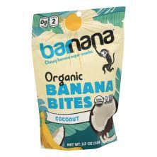 Barnana Banana Bites, Chewy, Organic, Coconut