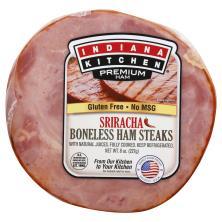 Indiana Kitchen Ham Steak, Boneless, Sriracha,Smoked, Fully Cooked
