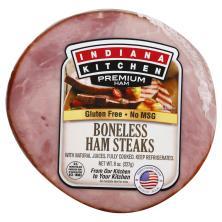 Indiana Kitchen Ham Steak, Boneless,Smoked, Fully Cooked