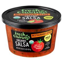 Fresh Cravings Salsa, Organic, Restaurant Style, Mild Crave