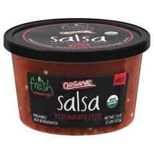 Fresh Cravings Salsa, Organic, Restaurant Style, Hot Crave