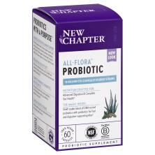 New Chapter Probiotic Dietary Supplement, All-Flora Whole-Food Live Probiotics