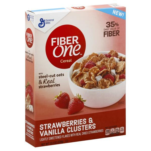 Fiber One Cereal, Strawberries & Vanilla Clusters : Publix.com