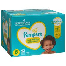 Pampers Diapers, Swaddlers, 6 (35+ lb), Super Pack