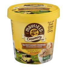 Mayfield Creamery Ice Cream, Premium, Sea Salt Caramel Cheesecake