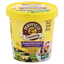 Mayfield Creamery Ice Cream, Premium, Summer Berry Swirl