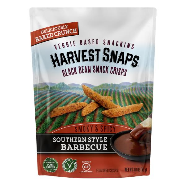 Harvest Snaps Snack Crisps, Black Bean, Southern Style Barbecue