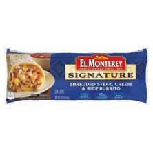 El Monterey Signature Burrito, Shredded Steak & Three-Cheese