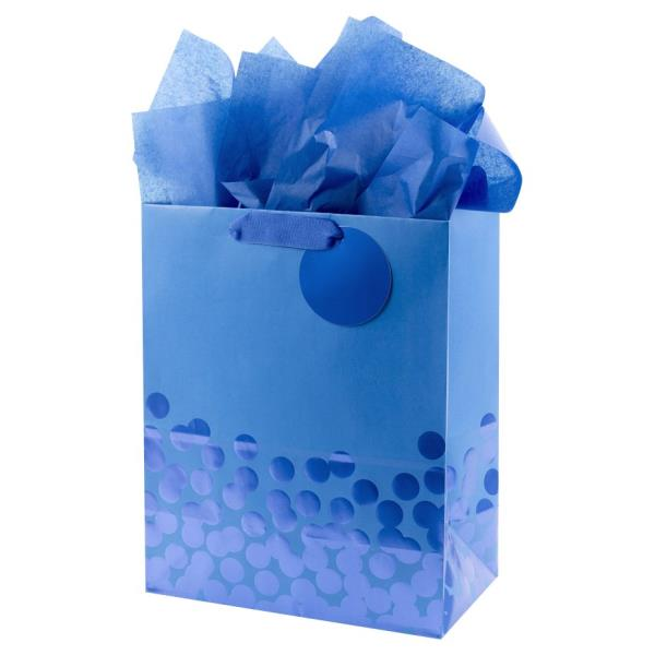 Blue Tissue Paper Sheets for Wrapping Gifts and Presents Ideal for New Baby Presents and Gift Bags Tissue Paper Blue Polka Dot Tissue Paper for Wrapping 3 Sheets Tissue Paper Sheets for Gifts