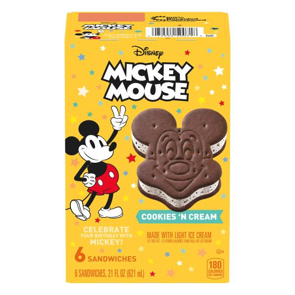 Mickey Sandwiches, Cookies 'N Cream, Mickey Mouse