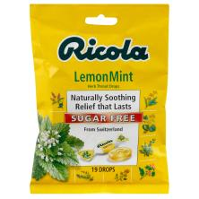 Ricola Throat Drops, Herb, Sugar Free, LemonMint