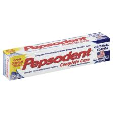 Pepsodent Complete Care Toothpaste, Anticavity Fluoride, Original Flavor
