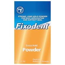Fixodent Denture Adhesive, Extra Hold, Powder