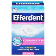 Efferdent Denture Cleanser, Anti-Bacterial, Bonus Pack