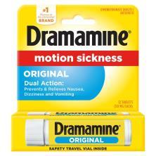 Dramamine Motion Sickness Relief, Original Formula, 50 mg, Tablets