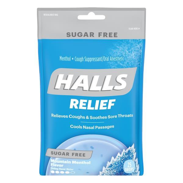 halls cough suppressant oral anesthetic menthol sugar free