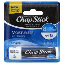 ChapStick Skin Protectant, Sunscreen, 2 in 1, Original, SPF 15
