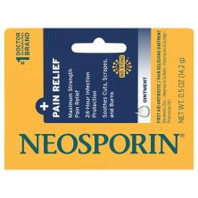 Neosporin + Pain Relief First Aid Antibiotic/Pain Relieving Ointment, Maximum Strength