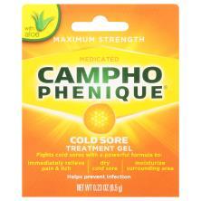Campho Phenique Cold Sore Treatment, Maximum Strength, Medicated, Original Gel Formula