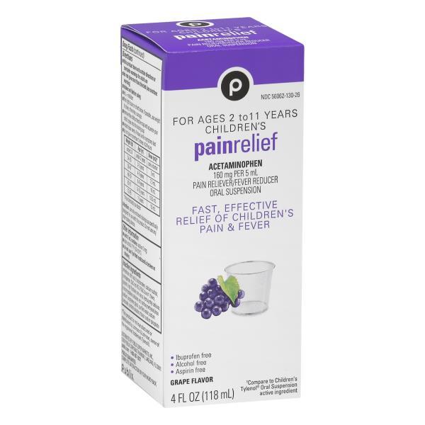 Publix Pain Relief, Children's, Cherry Flavor, Suspension Liquid