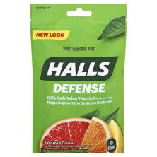 Halls Defense Supplement Drops, Assorted Citrus