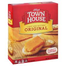 Town House Crackers, Oven Baked, Light and Buttery, Original