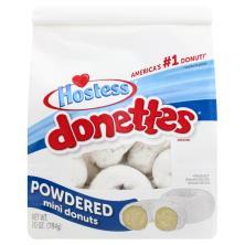 Hostess Donettes Donuts, Powdered, Mini