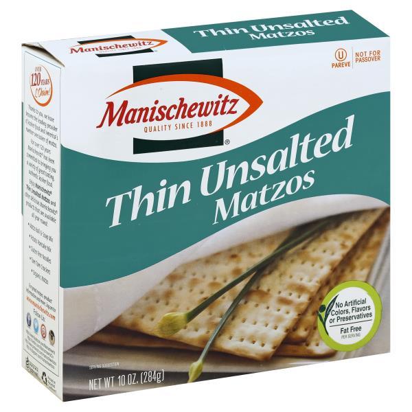 Manischewitz Matzos, Thin Unsalted