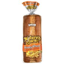 Natures Own Bread, Enriched, Honey Wheat