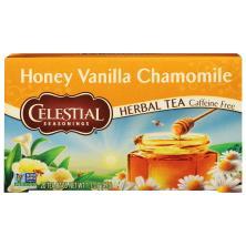 Celestial Seasonings Herbal Tea, Honey Vanilla Chamomile, Caffeine Free, Bags