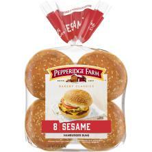 Pepperidge Farm Bakery Classics Hamburger Buns, Sesame Topped