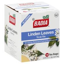 Badia Tea, Linden Leaves, No Caffeine, Bags