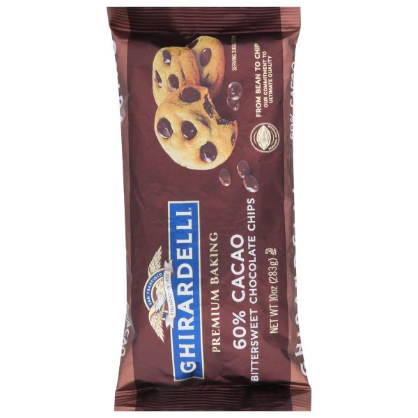 Ghirardelli Baking Chips, Premium, Bittersweet Chocolate